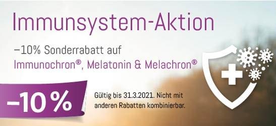 Immunsystem Aktion: –10% Sonderrabatt auf Immunochron®, Melatonin & Melachron®