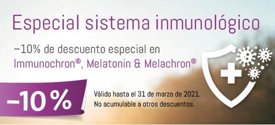 Especial sistema inmunológico: –10% de descuento especial en Immunochron®, Melatonin & Melachron®