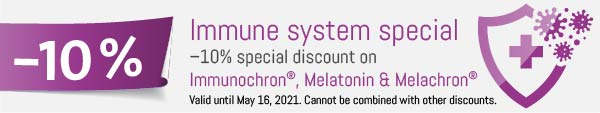 Immune system special: –10% special discount on Immunochron®, Melatonin & Melachron®